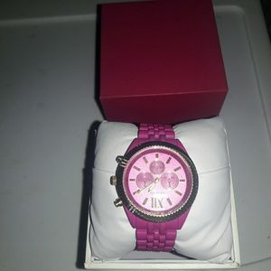 Geneva pink and gold watch brand new